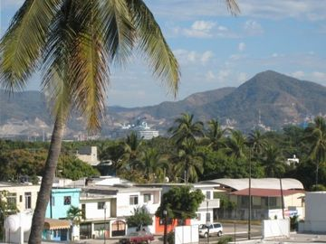 View of Las Brisas and the mountains from the back of our building