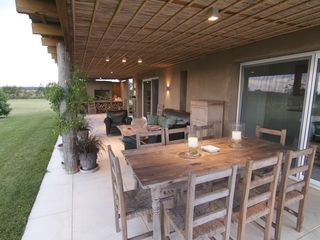 Maldonado farmhouse photo - PATIO: DINNER TABLE, EXTERIOR LIVING ROOM, BBQ AREA.