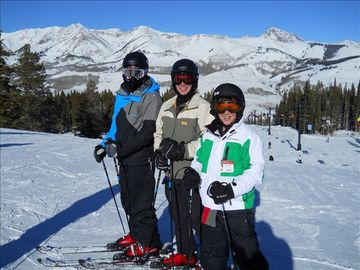 Our sons on the beautiful Crested Butte Slopes