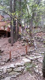 Lake Arrowhead cabin rental - Charming stone steps!