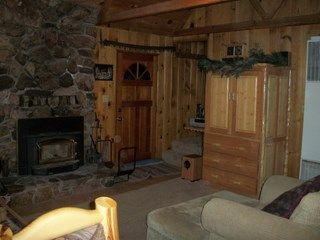 Big Bear Lake cabin photo - Living room with wood burner.