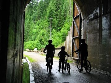 Ride the incredible Hiawatha bike trail.