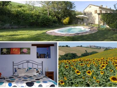 Marche farmhouse with pool and garden