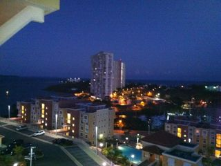 Nightime view from the balcony