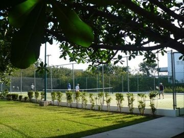 Tennis court at Marina next door