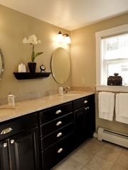 Fryeburg cottage photo - Bathroom with his and her sinks.