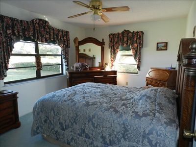 Second bedroom with Queen bed and water view