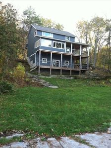 Ferrisburg house rental - View of the house from the lake