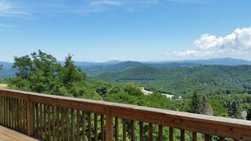 Blowing Rock chalet rental - Amazing views from the large main deck...you can see 3 states!