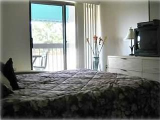 Master bedroom with balcony, cable TV, DVD