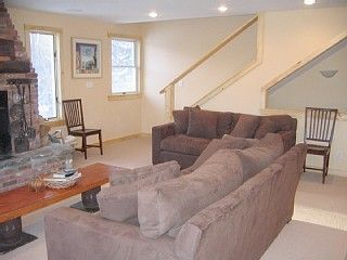 Mount Snow house photo - Living Room + Stairs leading to 4 bedrooms - 2 baths onTop Level