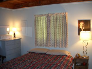 Belleayre Mountain chalet photo - Cozy bedroom #2 with queen-sized bed on the first floor.