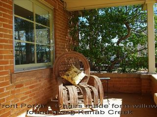 Kanab bungalow photo - Front Porch - Chairs made from willows