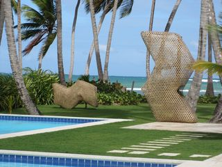Las Terrenas villa photo - Two giant fish nets in the garden.