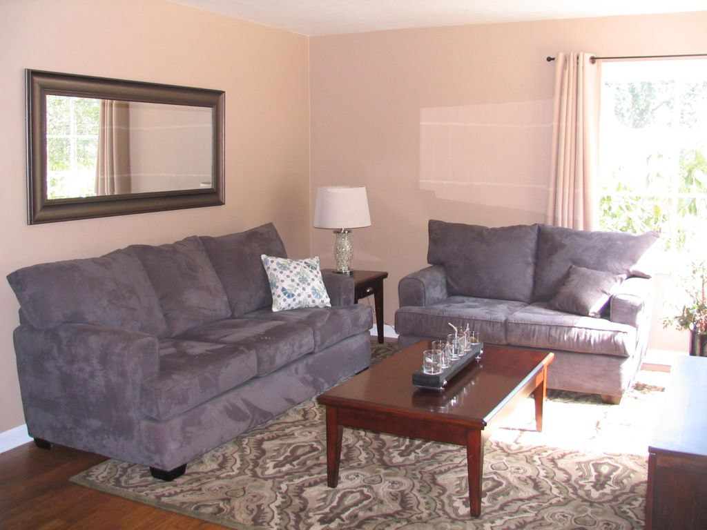 A charming 1940 traditional home in the heart vrbo for Living room with lots of seating