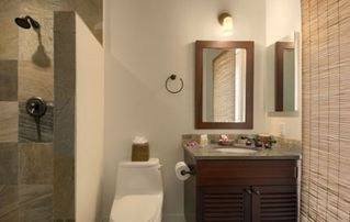 Lahaina condo photo - Bathroom with beautiful stone spa shower