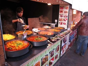Amazing food from all over the world in Camden Market
