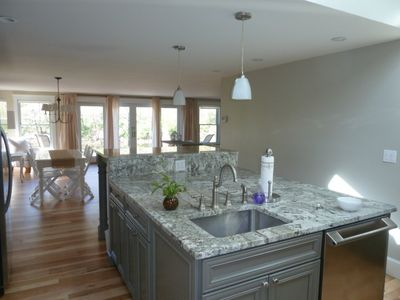 Falls Village cottage rental - Kitchen Island