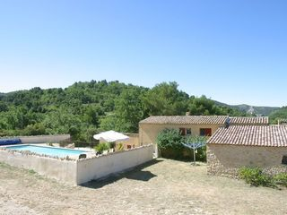 Venasque estate photo - House and pool with surrounding hills and woods