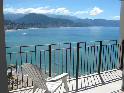 Los Muertos condo rental - Wrap Around View of Ocean and the City Lights of PV and the Malecon