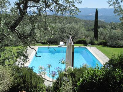 Overlooking the pool & valley beyond