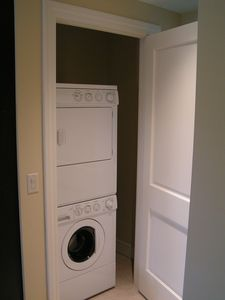 Washer and dryer just off the kitchen!