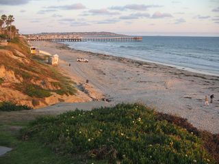 Pacific Beach cottage photo - View of PB Pier from Park at end of street