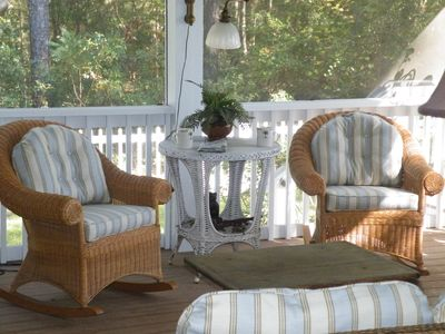 Enjoy your morning coffee on the screened porch and watch the sun rise