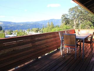 Hood River house photo - Looking NE from 32 ft long cedar balcony. Lounge chairs and BBQ not pictured