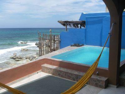 pool on main level overlooking the amazing views of the caribbean