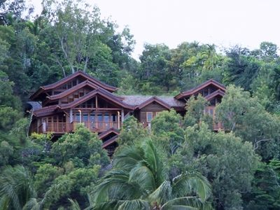 Port Douglas villa rental - View of House set in hills