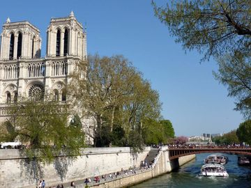 Notre Dame cathedral is a short walk from the apartment