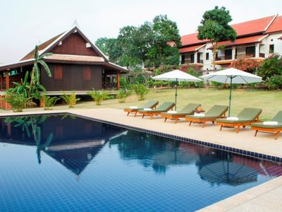 Luang Prabang Holiday Villa for Two with River Views and a Private Balcony