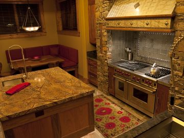 Granite counter tops and top of the line appliances