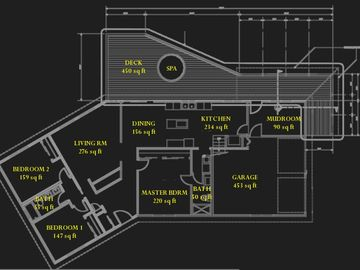 the floor plan of the house