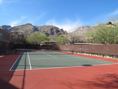 Well maintained and beautiful tennis facilities with multiple courts.