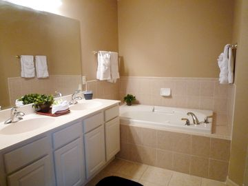 Master Bathroom 2 with walk in shower, bath, w.c.