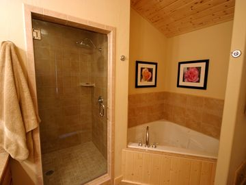 Master Bath, with Jetted Tub and Large Shower