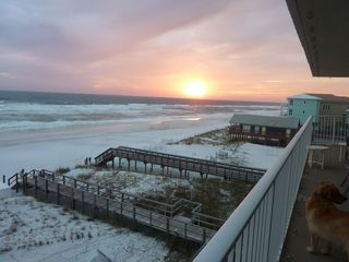 Mainsail Resort condo photo - Sunset from huge wrap around balcony