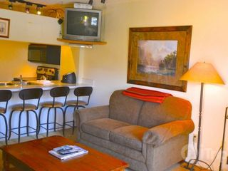 Park City condo photo - Living area with fireplace