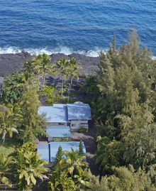 Hilo house rental - Main house is toward the ocean with views to Californai