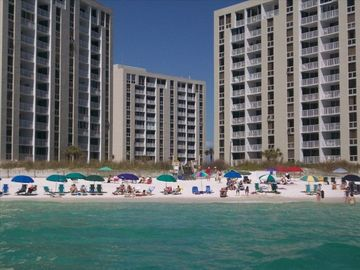 Shoreline Towers from the ocean