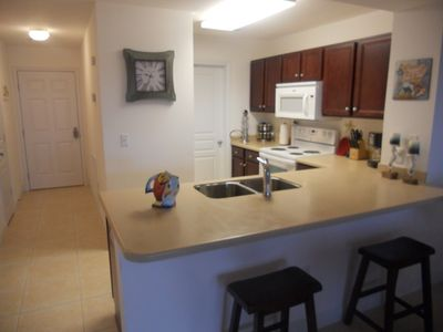 Full kitchen with all pots, pans, dishes, utencils you will need, Breakfast bar.