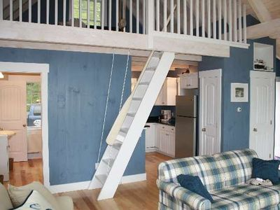 Orrs Island cottage rental - Stairs to Loft