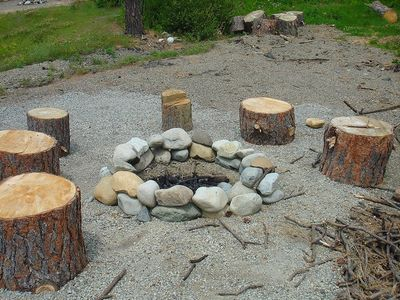 Firepit Area! - Firepit! Please bring your own firewood.