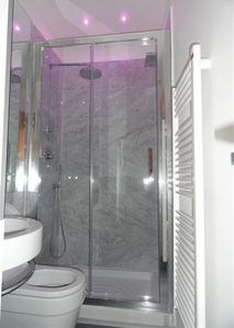 First Bathrooms with big Shower and water Fall.......Cromotherapy with color led