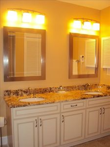 Master Bath with whirlpool tub and double vanities
