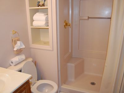 Main Level Bath with Large Oversize Shower