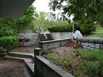 Back deck & garden area