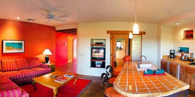 Palm Desert house rental - Kitchen and Living Room of a Two Bedroom Unit at the Club Intrawest Palm Desert